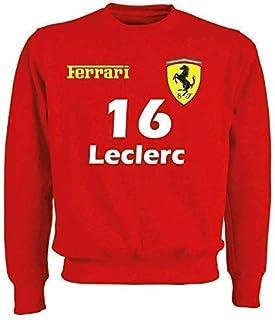 "Felpa Ferrari Formula Uno""5 Vettel""""16 Leclerc"" F1 Inspired"