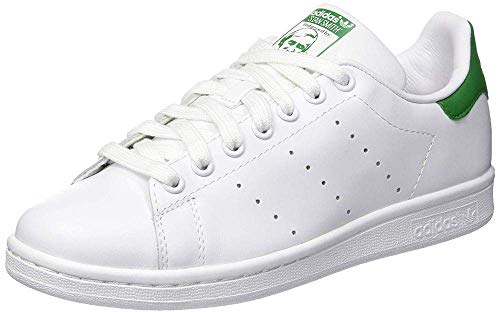 Adidas Originals Stan Smith - Zapatillas de deporte unisex para adultos, blancas (Running White Ftw / Running White / Fairway) 44 EU