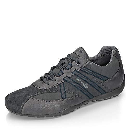 Geox Herren Low-Top Sneaker RAVEX, Männer Sneaker,Halbschuh,Sportschuh,Schnürschuh,atmungsaktiv,GRAU,43 EU / 9 UK