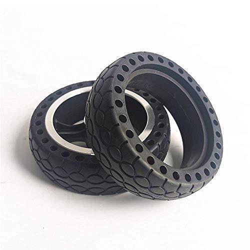 Neumático de scooter eléctrico, 5.5 pulgadas 5.5X1.5 Neumático sólido de panal a prueba de explosiones y resistente al desgaste Accesorios para scooter de rueda de aleación de aluminio, 8 mm,