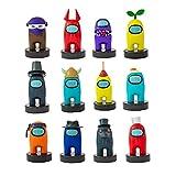Bizak- Among Us Figura con Sello Pack 12 Caja Surtido 1 (Ninja) (64115065), Multicolor (64112070)
