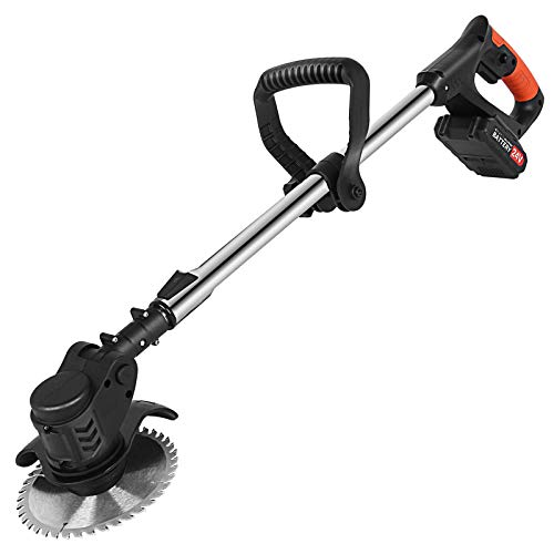Weed Trimmer, Cordless String Trimmer/Edger, w/20V 1.5Ah Lithium-ion Battery Powered, Telescopic Rod, Lightweight Edger Lawn Tool for Walk Behind Edging/Trimming