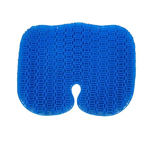 Yooyg Cojín de gel para asiento de gel, doble grueso, para sentarse, ortopédico, asiento de gel, asiento de panal, para silla de ruedas, asiento de coche, sillas de oficina en casa
