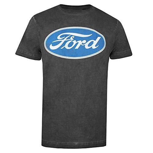 Ford Herren Logo T-Shirt, Vintage Black, XL