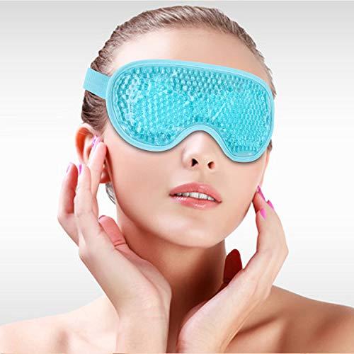 Augenmaske Kühlakku Gel Kühlend Kühlmaske Kühlpads Gel, 2-in-1 Hydrogel Augenmaske mit Perlen, Wärmekompresse, Kältekompresse, Entspannung, Stressabbau, geschwollene Augen, Müdigkeit, Blepharitis.