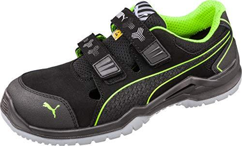 PUMA ox644300-schwarz/grün-45 Sicherheitsschuhe ESD S1P Safety Neodym Green Low 644300-45, Größe: 45, Schwarz, Grün, 1 Paar Argon Blue S3 SRC 54