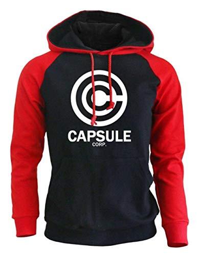 Kapuzenpullover Capsule Corp Brief Drucken Hip-Hop-Pullover Herbst Und Winter Männer Sowie Samt Schulter Hoodie Red M