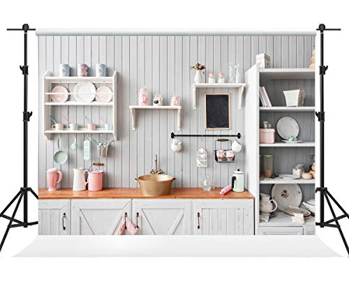 Kate 7×5ft Kitchen Backdrops for Photoshoot Wood Panel Kitchen Photo Backdrops Dining Room Interior Backdrop Decoration Photography Props