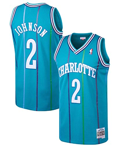 Larry Johnson Charlotte Hornets Men's Teal 1992-93 HWC Swingman Jersey (Small)
