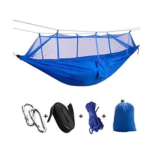 Relaxdays Columpio Portátil plegable doble que acampa Hamaca Mosquito árbol cama de la red de viajes Carpa Swing, Swing de Carpa Ideal for acampar, con mochila, kayak y viajes Hamaca doble