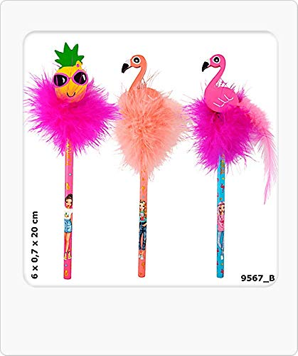Depesche Top Model 1 Bleistift mit Radierer Serie Tropical 1 Modell/Farbe Sortiert