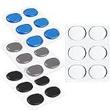 24 pezzi pad tamburo gel drum, silicone drum damper gel pads, drum mutes silenziatore pad, rullante mute pad, pastiglie accessori per strumenti a percussione