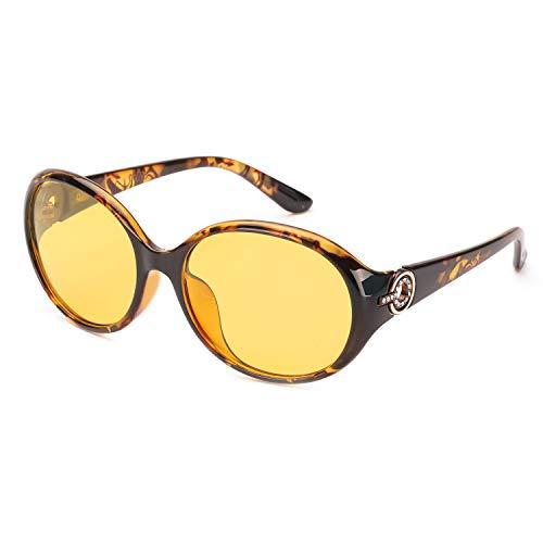 FIMILU Gafas de Conducción para la Noche, Gafas de Seguridad Antirreflejos de Lente Polarizada de Alta Definición para Mujeres (Marrón (Estilo 3))