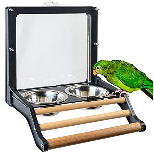 Royal Rooster Stainless Steel Bowls for Coop or Cage   Veggie Treat Feeder for Chickens   2 Pack Metal Bird Bowls for Parakeet Cockatiel Canary Parrot Finch Aviary   Bird Waterer & Seed Dish Feeder
