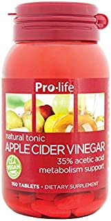 Prolife | Apple Cider Vinegar Pills | Support Weight Management and Heart Health | Vegan + Taste-Free | 150 Tablets
