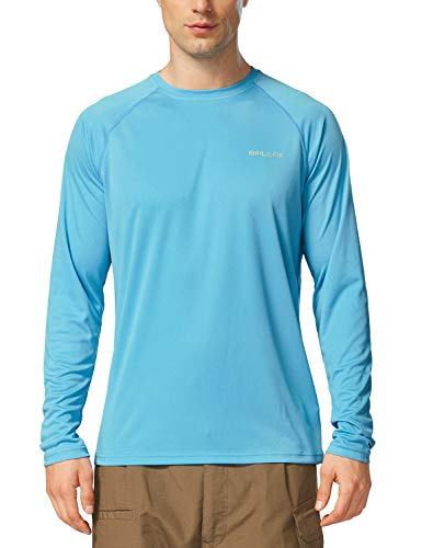 Men's Sun Protection Long Sleeve Shirt UPF 50+ Quick Dry Outdoor Hiking...