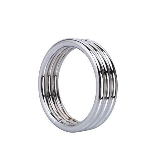 MXD Metal Klok Ring voor Mannen Soepele en Comfortabele Oefening Vertraging Ring T-Shirt L