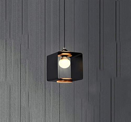 ZXL hanglamp, attik, E27, Noors, modern, minimalistisch, creatieve persoonlijkheid van hout, smeedijzer, elegante eettafel, kroonluchter verstelbaar (met uitzondering van de elektrische gloeilamp) [C