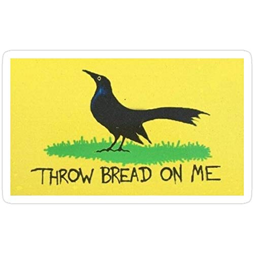 MrMint Stickers Throw Bread On Me Bumper Sticker (3 Pcs/Pack) Laptop Decals 3x4 Inch