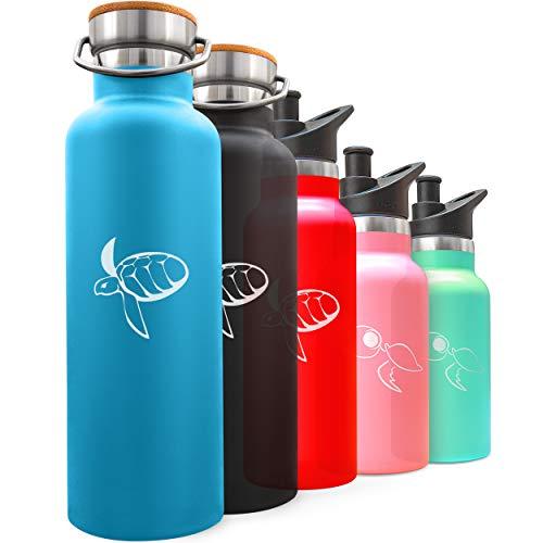 CARETTA - Botella de Agua Reutilizable Acero Inoxidable 350-750ml, Financia eliminación de plástico de los océanos - Cantimplora aislamento al vacio sin BPA, Bebidas frías o calientes 9 horas