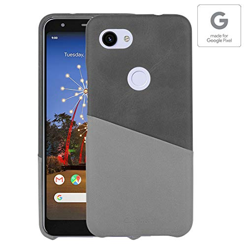 Stuffcool Soho PU Leather Hard Back Cases Cover for Google Pixel 3A (5.6 Inch) with Card Holder - Black - Authorized Made for Google Pixel Accessory