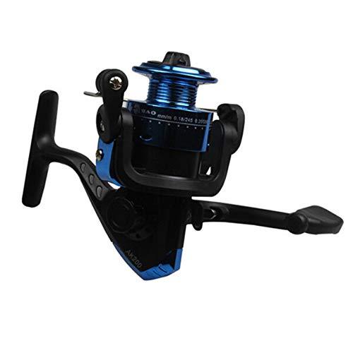 SIFDNRGNFN Carrete de Pesca Mini 200 Series de 3BB Rodamiento de Bolas de 3BB 5.2: 1 Relación de Engranajes Reel de Pesca de hilatura 100M 3 bucles Gire el Carrete de Pesca (Color : Blue)