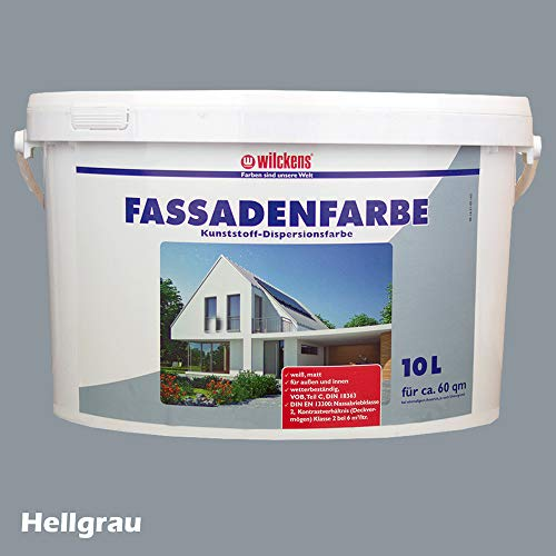 Wilckens Fassadenfarbe Wandfarbe Hellgrau 10 Liter