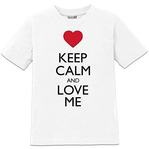 Camiseta de niño Keep Calm And Love Me by Shirtcity