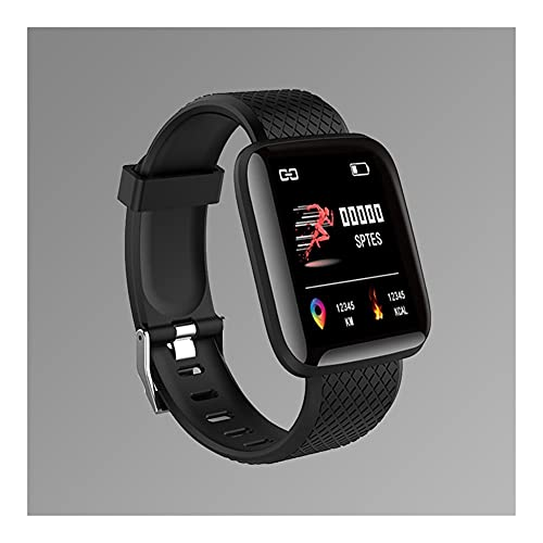 Reloj de hombre Reloj deportivo digital relojes para hombre reloj digital LED LED reloj de pulsera electrónico Bluetooth Fitness Wristwatch Mujeres Niños Relojes Reloj de mujer ( Color : Black )