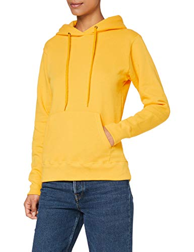 Fruit of the Loom SS068M Cappuccio, Giallo (Sunflower Yellow), S Donna