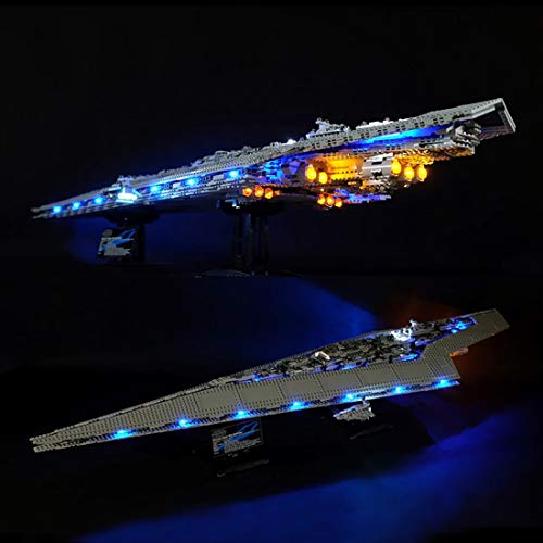 Poxl LED Beleuchtung Für Super Star Zerstörer LED Light LED Licht Kit Kompatibel Mit Lego 10221 - Lego Modell Nicht Enthalten