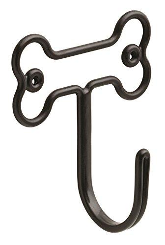 Franklin Brass Bone Shaped Hook Wall Hooks, Black,...