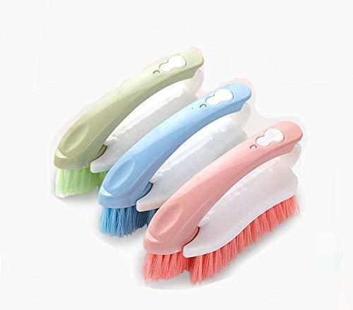 Brosse de nettoyage multifonctionnelle, brosse amovible, brosse de nettoyage combinée, brosse douce domestique, brosse à laver les chaussures (pack de 3)