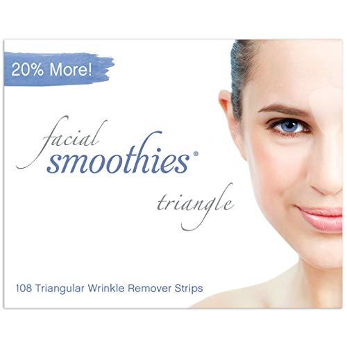 Facial Smoothies TRIANGLE Faltenentfernungsstreifen, 108 dreieckige Anti-Falten-Strips, Anti-Falten-Pflaster