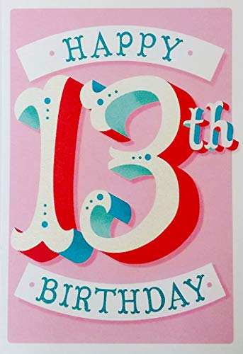 Happy 13th Birthday Greeting Card for Her Girl - World's Newest Teenager and Definitely One of the Best