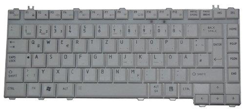 Original Tastatur Toshiba Satellite L300D DE Neu Weissgrau