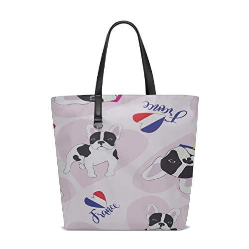 Shoulder Crossbody Bag Handle Satchel Best Shoulder Bag Purse Messenger Bags Women Shoulder Bag Funny Smart Cute Animal Pet Bulldog Printing Tote Zipper Travel