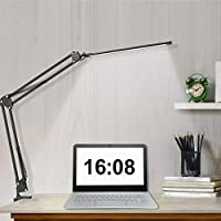 Beetwo LED Swing Arm Desk Lamp with Clamp