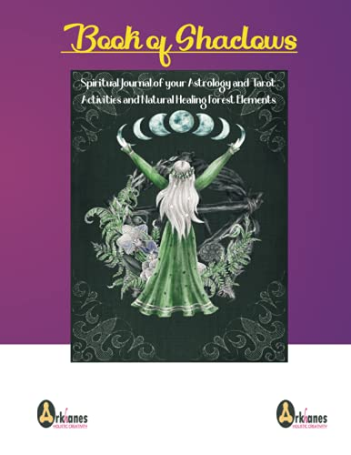 Book of Shadows.Spiritual Journal of your Astrology and Tarot Activities and Natural Healing Forest