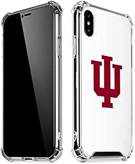 Skinit Clear Phone Case for iPhone X/XS - Officially Licensed Indiana University Indiana University Greek Symbol Design