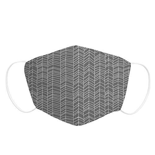 Pekebaby Pack 1 UD Mascarilla Adulto de tela lavable reutilizable 2 capas + bolsillo con 1 filtro incluido, diseño 015 TRIANGLE, doble ajuste elástico