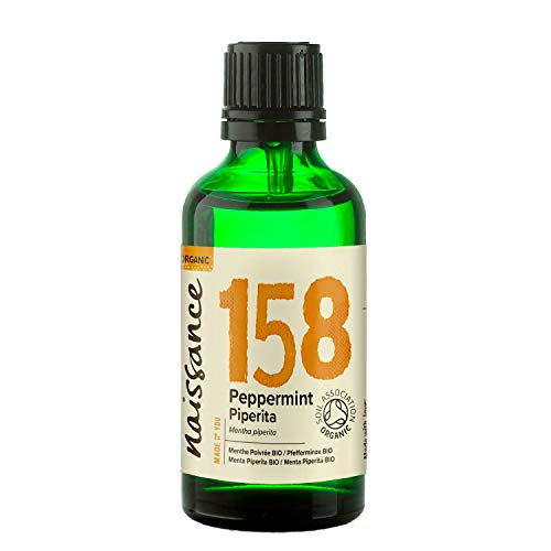 Naissance Organic Peppermint (Piperita) Essential Oil 50ml - Pure, Natural, Certified Organic,...