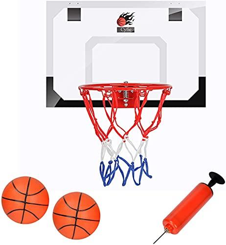 Basketballkorb fürs Zimmer, Basketballkorb Set mit Bälle und Pumpe Indoor Basketball Kinder Sport Büro Mini Basketball Board