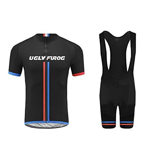 Uglyfrog Maillot Ciclismo Ropa para Bicicleta para Hombre Manga Corta Jersey Ciclismo Bodies DXMX09