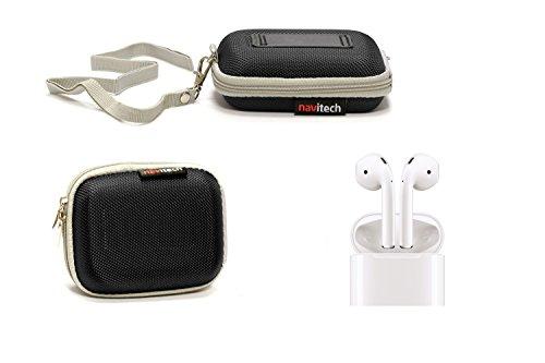 Navitech Noir Cas/Housse pour Apple EarPods