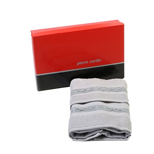 Pierre Cardin Braid - Juego de toallas de rizo para el rostro + invitados, color gris