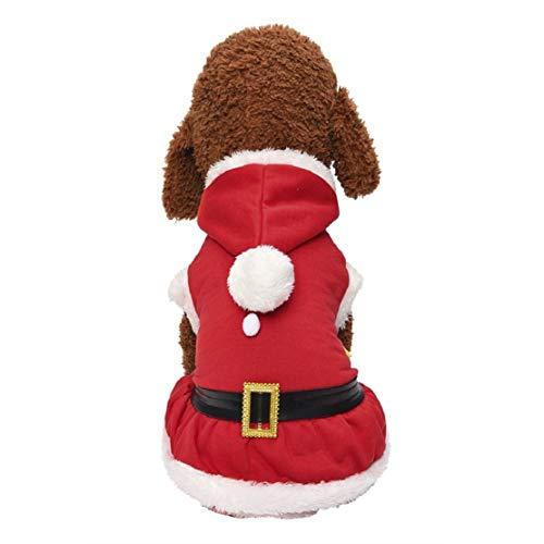 Bluelucon winterhonden kleding hond kostuum kerstman hondenkostuum Santa pak warm mode pullover met capuchon fleece kostuum hondenmantel jas