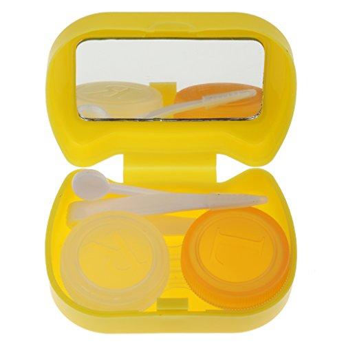 Süß-Katze-Form Kontaktlinsenbehälter Linsenbox für Reise Diesereise Schule - Gelb
