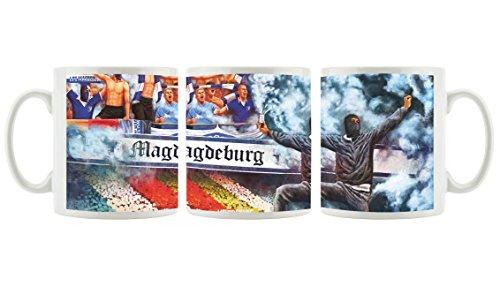 Ultras magdeburgCollage als Bedruckte Kaffeetasse/Teetasse aus Keramik, 300ml, weiß