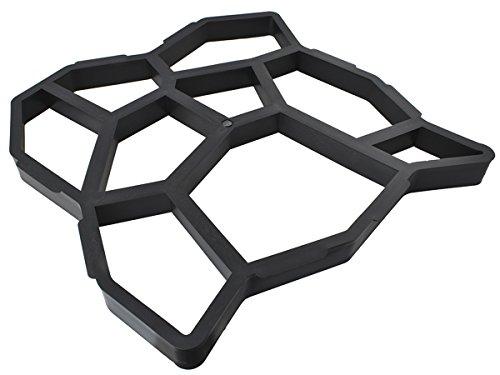 ISO TRADE Betonform Gießform Kunststoff 49x49x4,5cm Natursteine Terrasse Garten Gehweg 5174